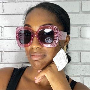 ASOS Oversized Square Embellished Sunglasses